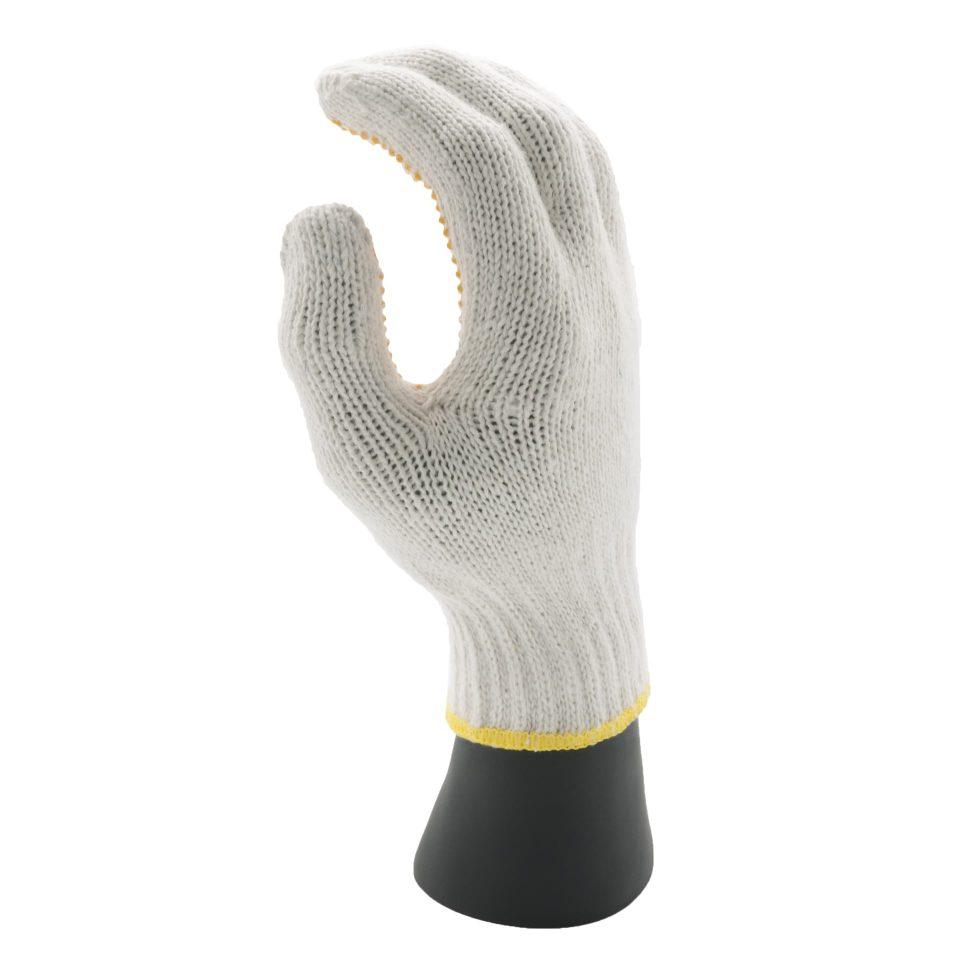 ถุงมือจุดเหลือง
