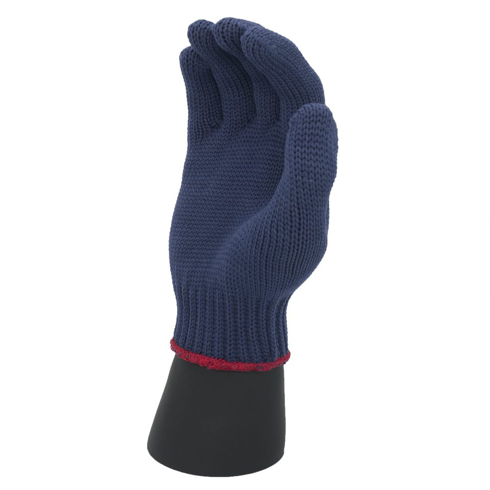 ถุงมือโพลีสีน้ำเงิน