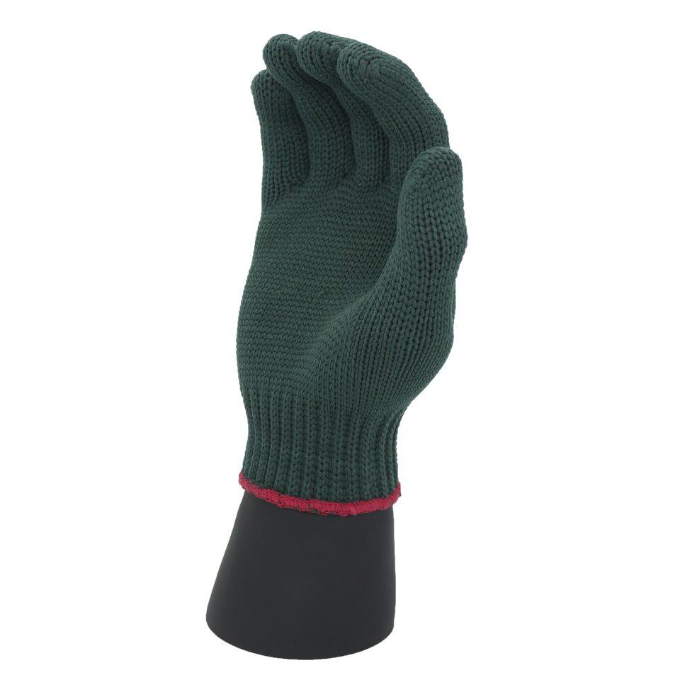 ถุงมือโพลีสีเขียว