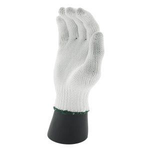 ถุงมือผ้าโพลีสีขาว