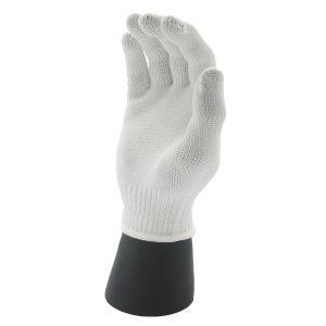 ถุงมือ10เข็มโพลีขาว