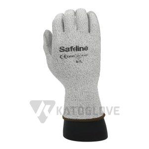 โรงงานถุงมือผ้า จำหน่ายถุงมือทำงาน ถุงมือกันบาด SAFELINE กันบาดระดับ5 en388 (4542)